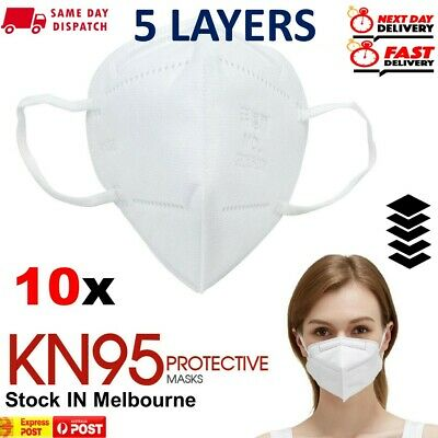 AU18.85 • Buy Disposable Face K N 95 KN 95 Mask Anti Flu Dust Pollution Respirator Filter 10x