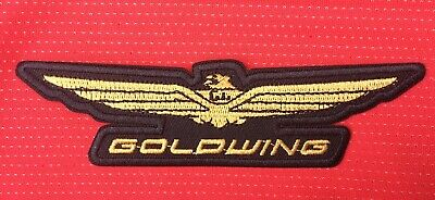 Honda Goldwing Logo Touring Motorcycle Bike Gold Wing Badge Iron Sew On Patch • 2.99£