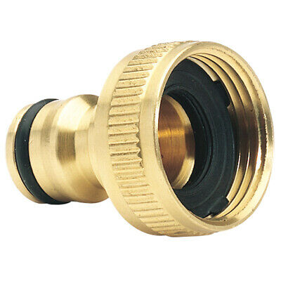 FITTING 3/4  To 1/2  INCH BRASS GARDEN FAUCET HOSE TAP WATER ADAPTOR CONNECTOR • 3.89£
