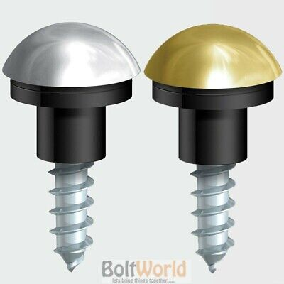 £4.30 • Buy 1 Inch / 25mm MIRROR SCREWS WITH DOME CAPS POLISHED BRASS OR CHROME FINISH CAP