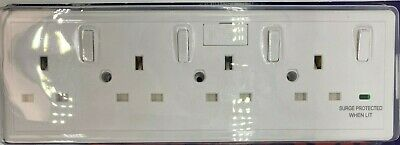 £16.95 • Buy Converter Socket Converts 1 Or 2 Gang To 4 Gang With Surge Protection & Fused