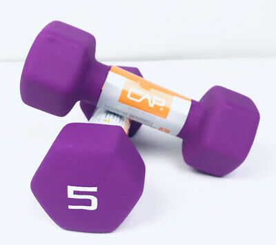 $ CDN46.92 • Buy Lot Of 2 CAP Neoprene 5lb Pound Dumbbell Weights NEW Total Of 10 Lbs Workout
