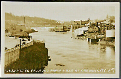 $6 • Buy RPPC Willamette Falls And Paper Mills At Oregon City, Or      PC551