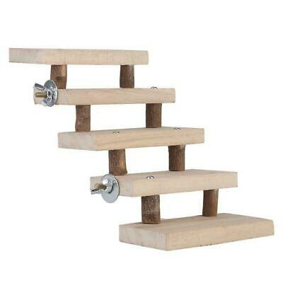 £7.49 • Buy Pet Parrots Natural Wood Hamster Ladder Toy Climbing Stairs Cage Accessories