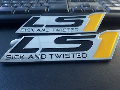 AU24.99 • Buy HOLDEN V8 LS1 BADGES HSV 5.7 DECAL VT VX VY VZ COMMODORE Sick And Twisted X 2