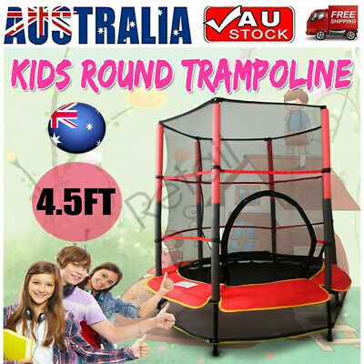 AU85 • Buy 4.5FT Kids Trampoline Indoor Outdoor Junior Safety Net Jumping Spring Pad Cover
