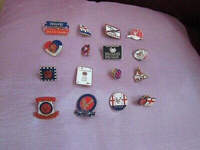 16 Collectable Crystal Palace Football Club Pin Badges Various Designs Lot 1 • 40£