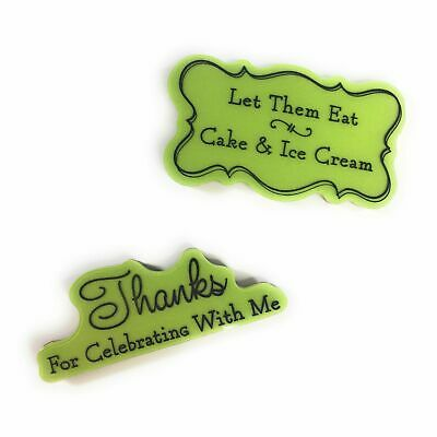 £2.18 • Buy Let Them Eat Cake & Ice Cream Cling Stamps | Thanks For Celebrating With Me