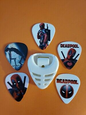 $ CDN19.99 • Buy DIY 5 Piece Deadpool Guitar Pick Lot With Pick Holder