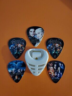 $ CDN19.99 • Buy DIY 5 Piece Dany And Jon Guitar Pick Lot With Pick Holder