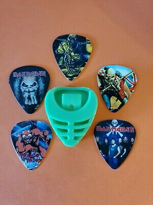 $ CDN19.99 • Buy DIY 5 Piece Maiden Guitar Pick Lot With Pick Holder