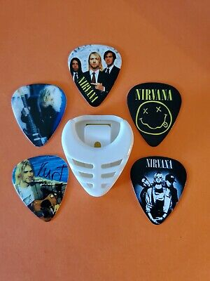 $ CDN19.99 • Buy DIY 5 Piece Nirvana Guitar Pick Lot With Pick Holder