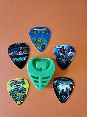 $ CDN19.99 • Buy DIY 5 Piece Tmnt Guitar Pick Lot With Pick Holder