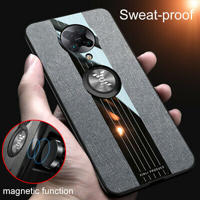 AU10.20 • Buy For Xiaomi POCO F2 Pro, Shockproof Hybrid Soft Magnetic Ring Holder Case Cover