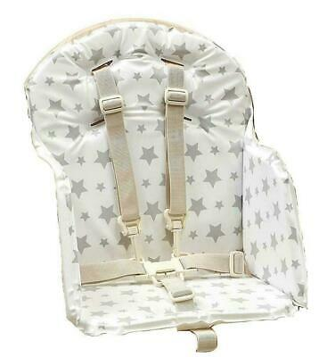 East Coast Baby's Highchair Insert Padded Cushion Feeding Chair Seat Cover Grey • 14.99£