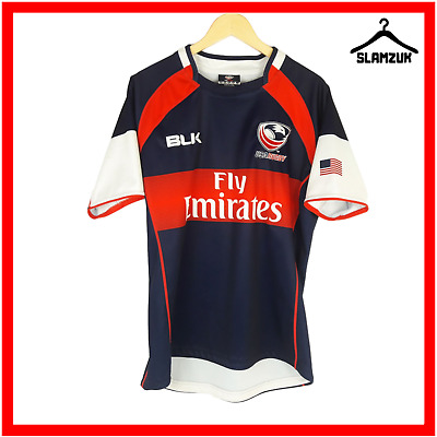 £29.99 • Buy USA Rugby Shirt BLK L Large United States Jersey American Team 2014 2015