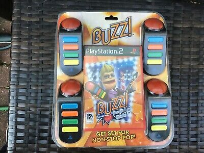 PlayStation 2 Ps2 Buzz The Pop Quiz Plus 4 Buzzers Brand New Sealed Very Rare  • 49.99£