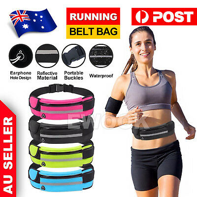 AU7.85 • Buy Waterproof Running Belt Bum Bag Travel Waist Bags Money Zip Pouch Sports Wallet
