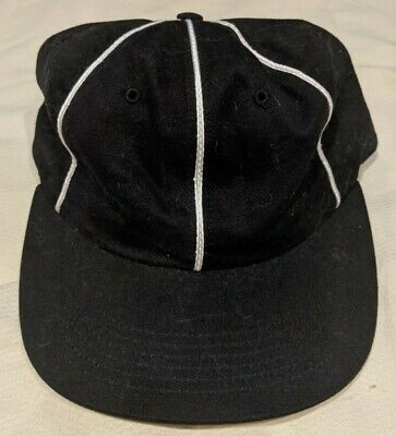 $ CDN19.99 • Buy 5 Panel Huf USA Black With White Stripes Adjustable Hat With Green Under Brim
