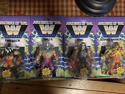 $147.95 • Buy Masters Of The Wwe Universe Set Of 4 Finn Balor Sting Triple H Ultimate Warrior!