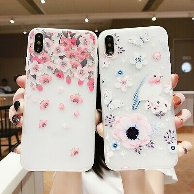 AU5.96 • Buy For Various Phone Cover Hot Frosted Flower Silicone Fashion Cute Lark Case Skin