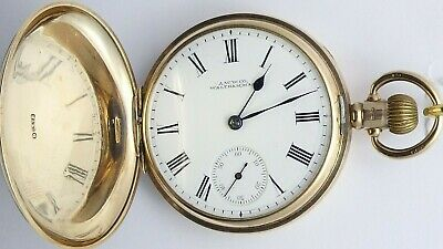 Antique 9ct Gold Full Hunter Pocket Watch Waltham USA. In Good Working Order. • 1,450£