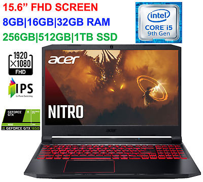 View Details 2020 Acer Nitro 5 15.6'' FHD Gaming Laptop Intel I5 GTX 1650,32GB RAM&1TB SSD • 849.00$