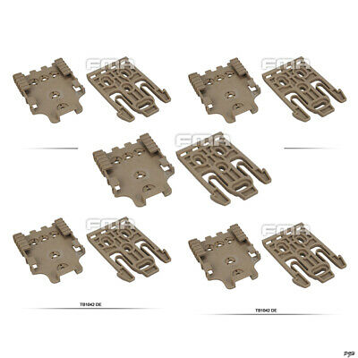 $ CDN44.96 • Buy 5x FMA Safariland Holster QLS Quick Locking System Kit TB1042-DE Sand