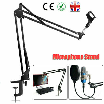 Foldable Microphone Mic Suspension Boom Arm Desktop Table Stand Holder Mount UK • 7.99£