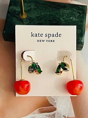 $ CDN25.05 • Buy Kate Spade New York  Red Cherry Earrings