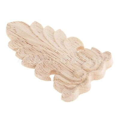 AU3.05 • Buy Wooden Wood Carved Floral Decal Door Furniture Unpainted Woodcarving Applique