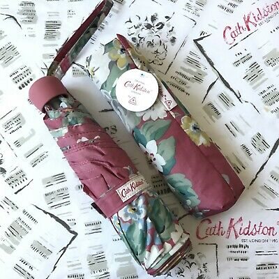 CATH KIDSTON Norfolk Rose Pink Floral MINILITE Umbrella ~ NEW With Tags • 19.95£