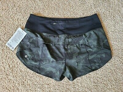 $ CDN95 • Buy Lululemon Speed Up Shorts. Incognito Green Camo. High Rise! Size 12.