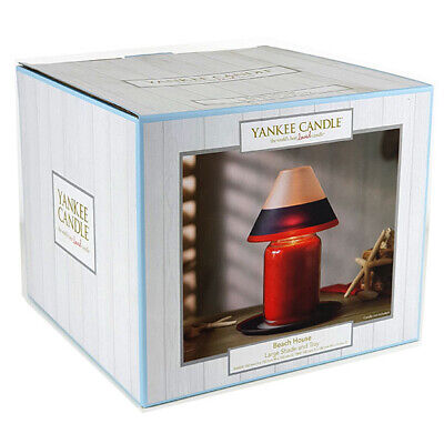 Official Yankee Candle Beach House Large Shade & Tray Set (BRAND NEW) • 22.50£
