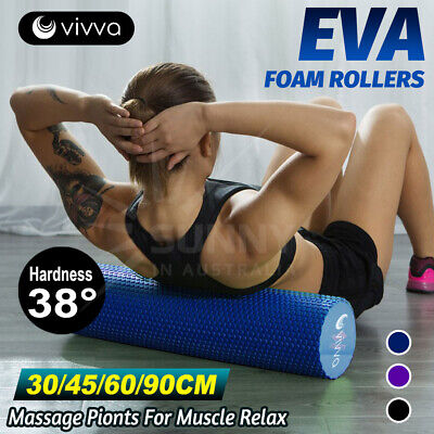 AU31.99 • Buy VIVVA 30-90CM Pilates Foam Roller EVA Physio Yoga Fitness GYM Exercise Training