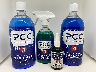 Pro Cycle Care Bike Cleaning Kit Bundle Bike Cleaner Citrus Degreaser, Lubricant • 42.56£