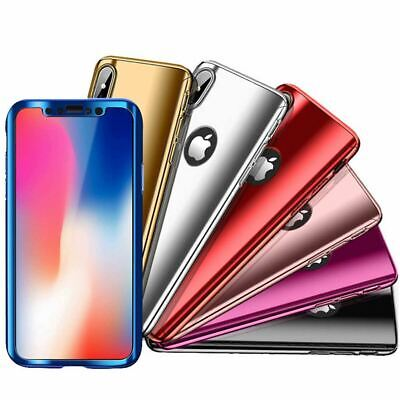 AU4.39 • Buy Tempered Glass Cover For IPhone X 8 7 Plus 6s 5 Mirror Hybrid 360 Hard Thin Case