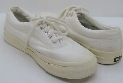 $25.99 • Buy Ralph Lauren Polo White On White Canvas Tie Skid Resistant Sole Shoes, Size 6.