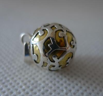 14mm Harmony Ball Angel Caller Mexican Bola Sterling Silver & Brass Pendant • 19£