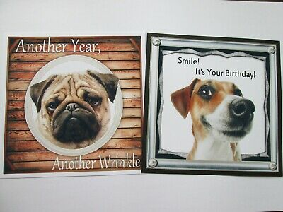 NEW SET ==  2 X ANOTHER WRINKLE / SMILE ITS YOUR BIRTHDAY Card Toppers • 1.20£