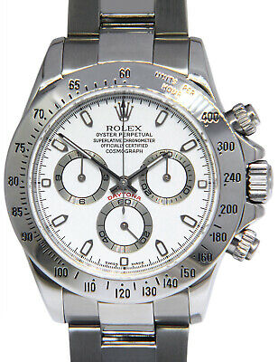 $ CDN26632.24 • Buy Rolex Daytona Chronograph Steel White Dial Mens 40mm Automatic Watch Y 116520