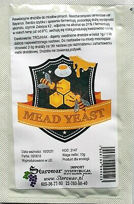 Bayanus Yeast For Mead And High Alcohol 21% Wine Yeast .  • 2.99£