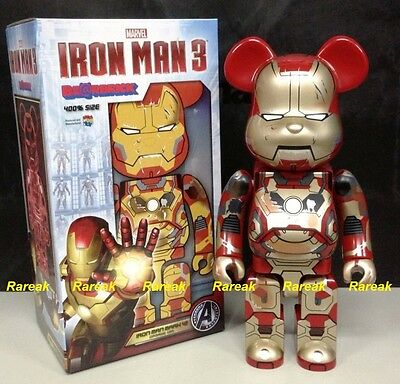 $589.99 • Buy Medicom Be@rbrick 2015 Marvel Iron Man 3 400% Mark XLII 42 Damage Ver Bearbrick