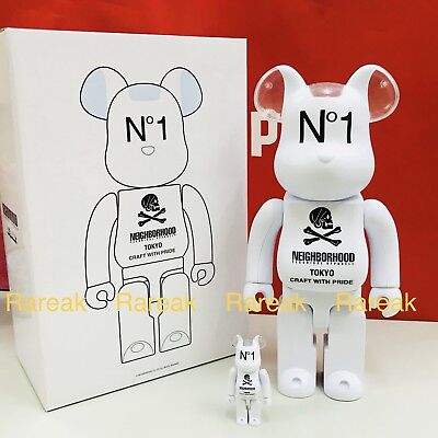 $356.99 • Buy Medicom 2018 Bearbrick Neighborhood 400% & 100% Tokyo No.1 Pride Be@rbrick Set