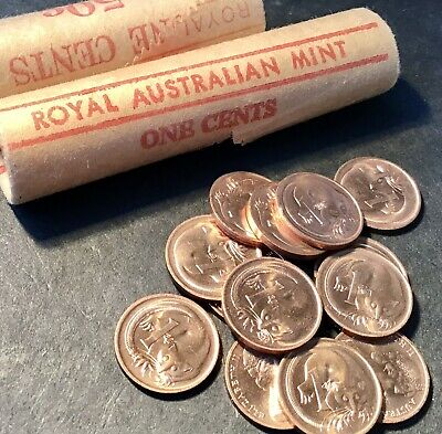 AU7.95 • Buy 1966 1 Cent Australian Decimal Coin X1 From Mint Roll. Almost Uncirculated AUnc.