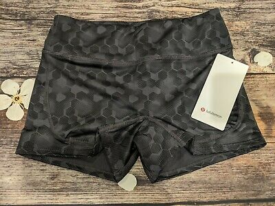 $ CDN43.73 • Buy Size 8, LULULEMON Running Swim Yoga Gym Fitted 3  Shorts. NWT. Navy