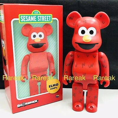 $199.99 • Buy Medicom Be@rbrick 2016 Sesame Street Elmo 400% Bearbrick 1pc