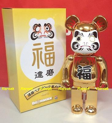 $289.99 • Buy Medicom Bearbrick 2014 Skytree Daruma Metallic Golden 400% Gold Plate Be@rbrick