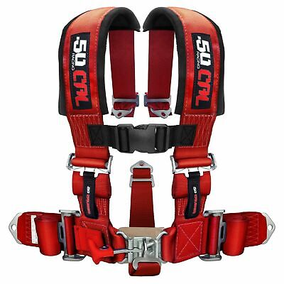 $ CDN144.96 • Buy 5 Point Safety Harness 2 Inch Seat Belt RZR 170 570 800 XP900 XP1000 S 900 Red
