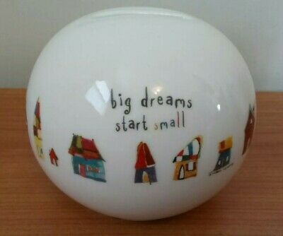 Natural Life Ceramic Coin Bank Big Dreams Start Small • 10.42£